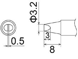 Сменный наконечник hakko t22-d32 (для fm-2030).